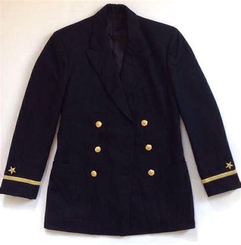 R Vest Coat Navy 1 usn navy officer coat pea academy jacket wool 36 38 r brass