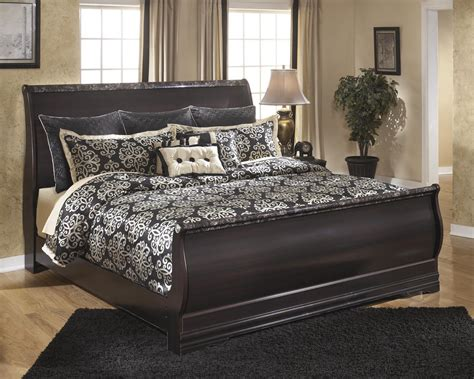 king sleigh bedroom set ashley esmarelda b179 king size sleigh bedroom set 2 night