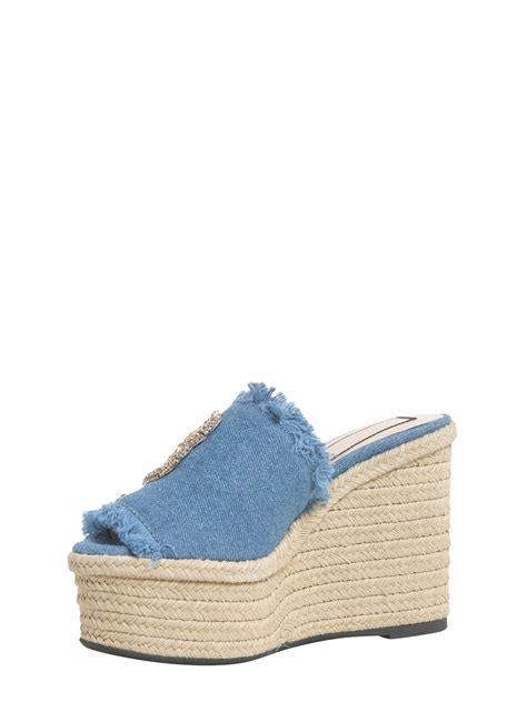 Sandal Denim Carakter n 21 denim mule sandals denim s wedges italist