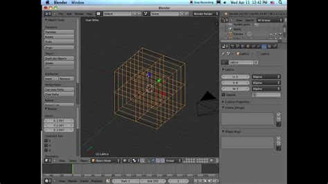 Blender Tutorial Lattice | lattice modifier tutorial blender 2 62 youtube