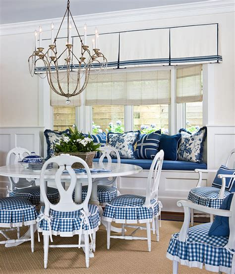 blue and white dining room mende design instant slipcovers by chair aprons