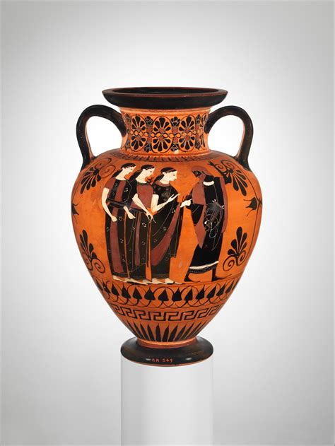 attributed   swing painter terracotta neck amphora