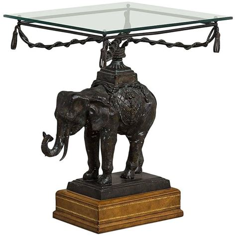Elephant Side Table Maitland Smith Designed Elephant Side Table 1970s For Sale At 1stdibs