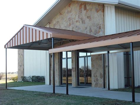 commercial metal awnings awnings dallas fort worth commercial metal
