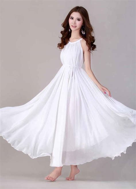 Dress Putih dress putih lengan buntung cantik myrosefashion