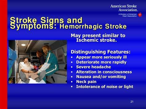 symptoms of a light stroke stroke