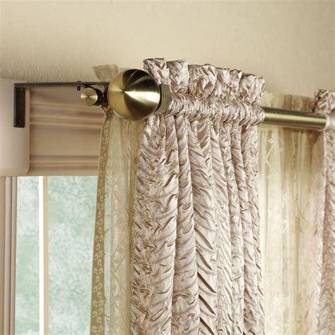 double window curtain ideas extraordinary double rod curtain rods double curtain rod