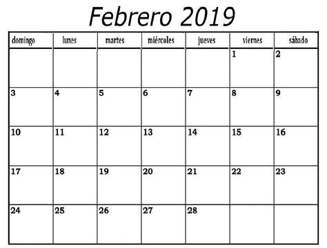 clipart calendario calendario febrero 2019 calendario febrero 2019 para