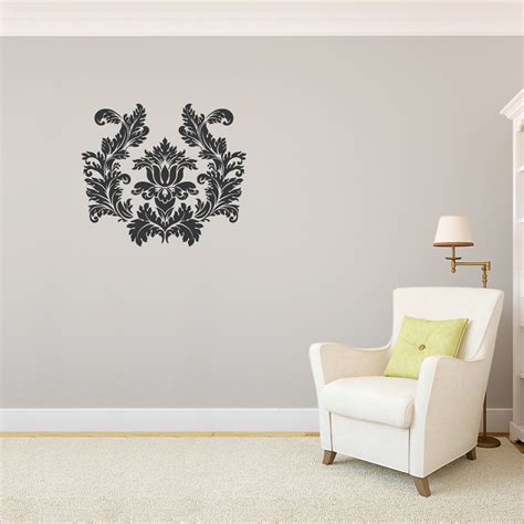 damask wall stickers white damask wall decals www imgkid the image kid