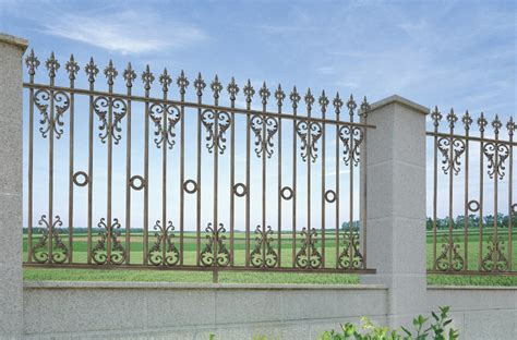 fence designer new design metal iron fence iron pipe fence gate color
