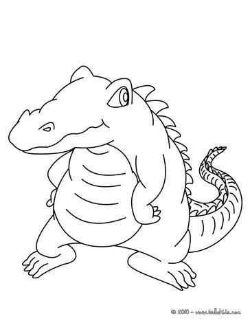 cute alligator coloring pages hellokids com