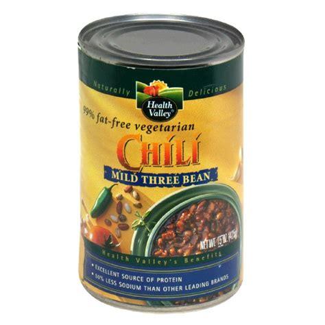 Chili Powder 65g health valley vegetarian chili mild three bean 99 free