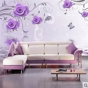 aliexpress buy 3d stereoscopic purple flower