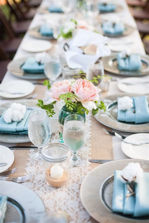 burlap  lace wedding  party ideas  charming day