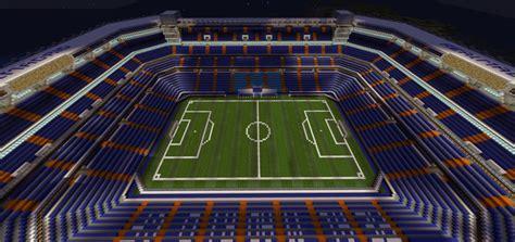 minecraft sports stadium santiago bernabeu stadium creation minecraft pe maps