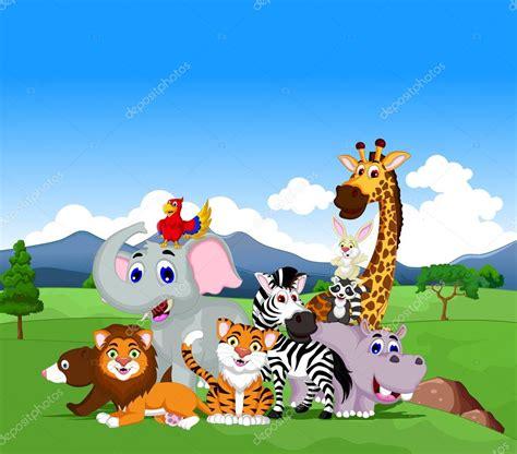 imagenes animales de la selva animados colecci 243 n de divertidos dibujos animados de animales en la