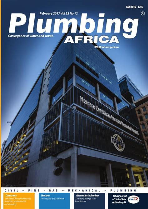 Plumbing Companies In South Africa by Plumbing Africa February 2017 Joomag Newsstand