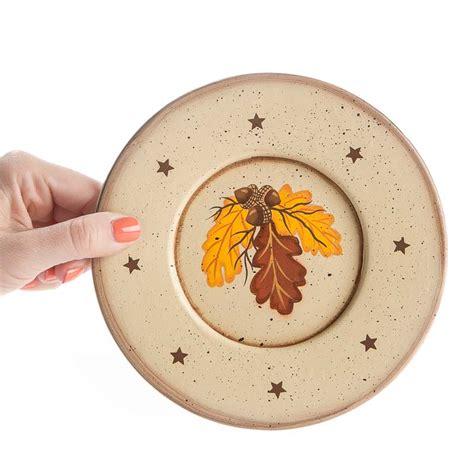 primitive fall oak leaf plate decorative plates and stands home decor