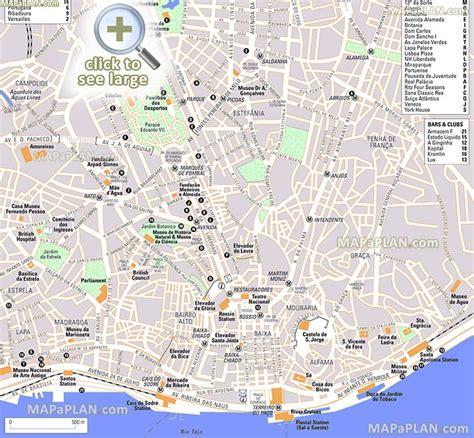 printable map lisbon lisbon city centre map my blog