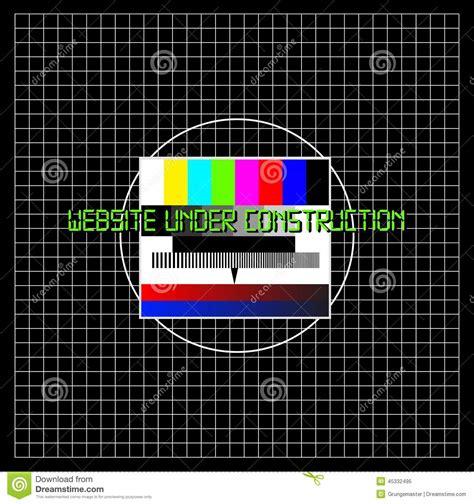 pattern construction test website under construction stock vector image 45332495