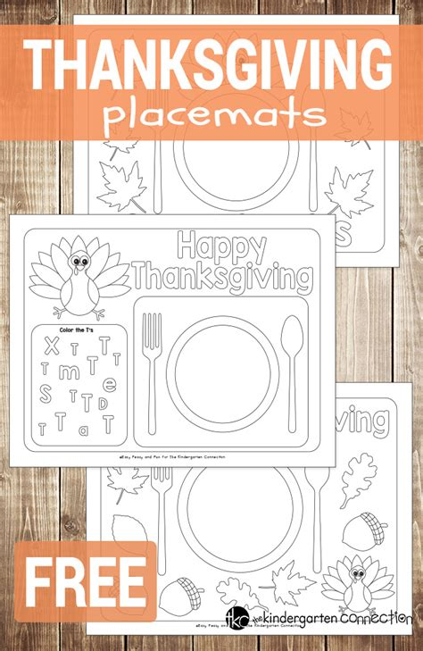 Thanksgiving Craft Ideas Planting Tree Coloring Page - printable thanksgiving placemats