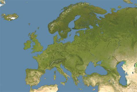 large detailed satellite map of europe europe large