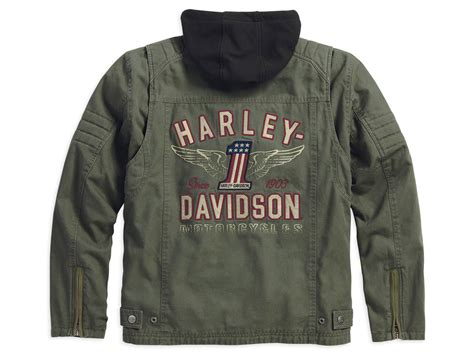 Harley Davidson 3 In 1 Jacket by 98563 15vm Harley Davidson Jacket Way 3 In 1 Green