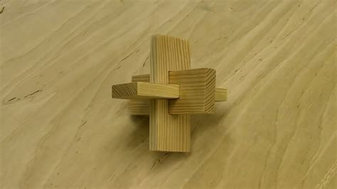 piece cross knot wooden puzzle youtube