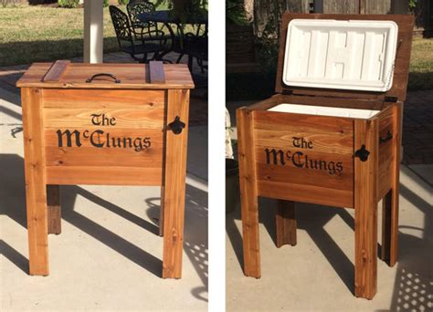 backyard ice chest outdoor cedar ice chest cooler stand greater by stevenshome