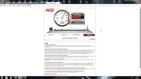 ngi line quality test adsl ping 9 telecom italia 10
