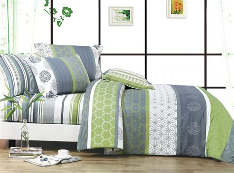 Grey And Green Bedding by Total Fab Lime Green And Grey Bedding Sets