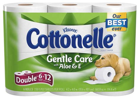 Who Makes Cottonelle Toilet Paper - cottonelle toilet paper with aloe e roll 8 6 pack