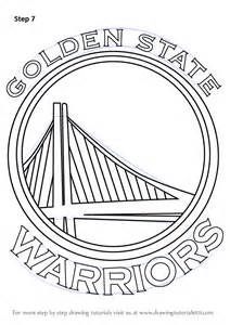 warriors coloring pages learn how to draw golden state warriors logo nba step by