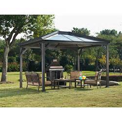 havecty hard top patio gazebo 114 quot x 120 quot