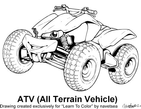 coloring pages quad bike free coloring pages of quad bikes