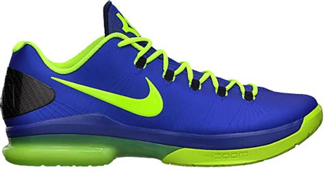 kd elite basketball shoes lyst nike kd v elite basketball shoes in blue for