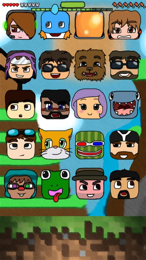 wallpaper iphone youtubers minecraft youtubers themed iphone 5 5s c wallpaper by