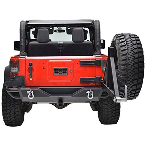 jeep rear bumper with tire carrier jeep wrangler jk black rear bumper with tire carrier and