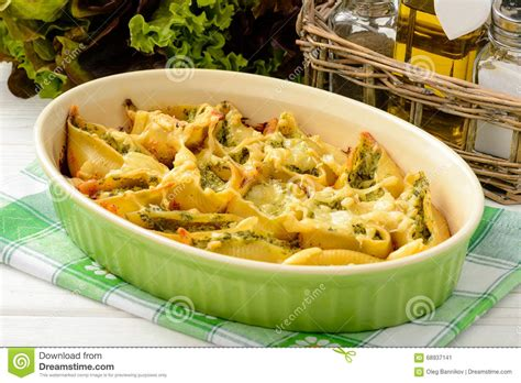 cuisine pasta cuisine pasta shells stuffed with spinach