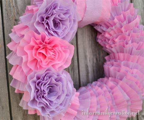 How To Make A Tissue Paper Wreath - diy tissue paper wreath infarrantly creative