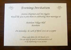 how to write an evening wedding invitation personalised wedding day evening reception invitations invites cards bells ebay