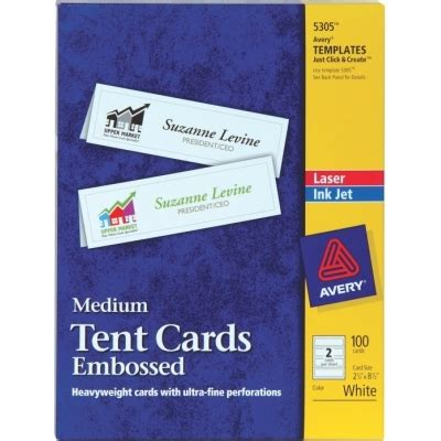 medium tent cards template free avery 174 medium embossed tent cards 5305 2 5x8 5 天下文儀有限公司