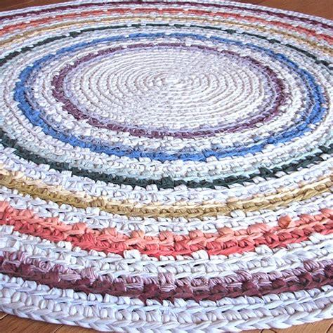 50 quot ready to ship rainbow crocheted rag rug