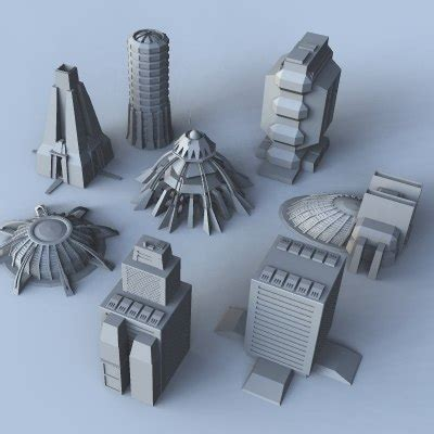 Mds Confidence In Science science fiction building set 3d model