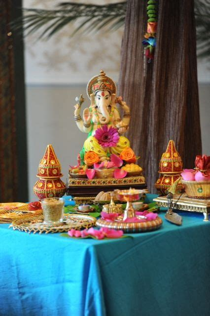 Colourful Ganesh Table. Indian Wedding Decoration   Etc