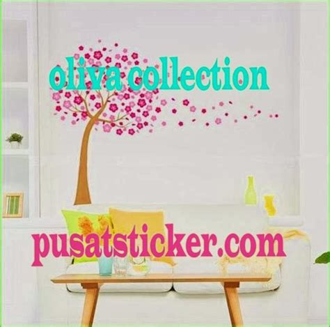 Berapa Catokan wall sticker pohon pink oliva collection