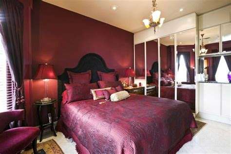 deep red bedroom master bedrooms in rich red hues interiors by color