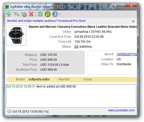 bid sniper free ebay auction sniper free