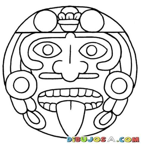 Imagenes Aztecas Mayas | mandalas para colorear estela maya geroglifico y cara de