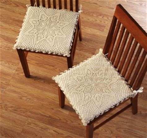 shabby chic kitchen chair cushions shabby chic style crochet kitchen dining chair pad cushion